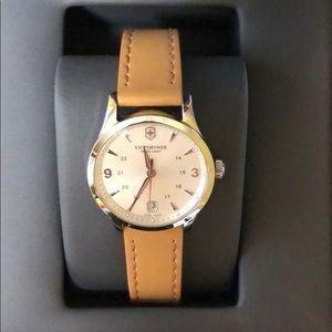 Victorinox Swiss Army Leather Ladies Watch